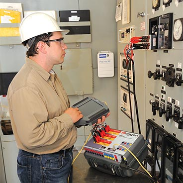 Multi-phase relay testing