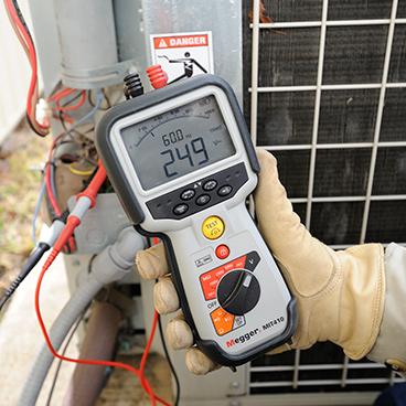 Insulation resistance testing < 1 kV
