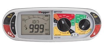 Megger MFT1721 multifunction installation tester