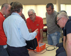 People training at Megger technology centre in Dover on electrical test equipment