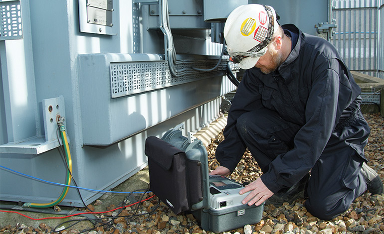 Heathrow insulation testing with a Megger MIT1020 insulation tester