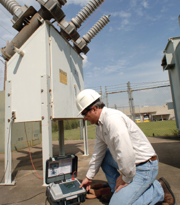 Insulation resistance testing at a substation