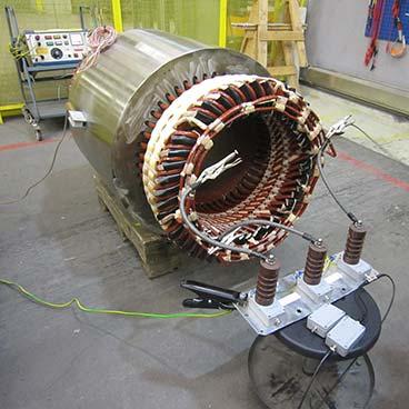 PD testing on motors and generators