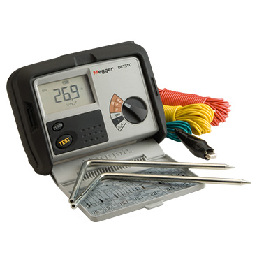 3 terminal earth resistance tester