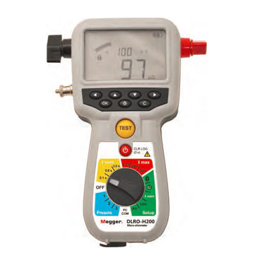 Hand-held 200A micro-ohmmeter