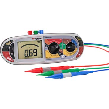 Multifunction tester with loop test confidence meter installation