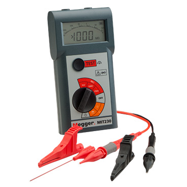Pocket sized insulation and continuity testers