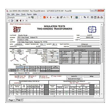 Powerdb Pro Acceptance Amp Maintenance Test Data