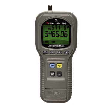 Hand-held TDR or cable length meter