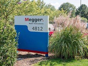 Megger Baker Intstrument sign