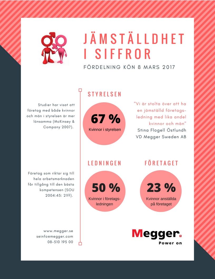 Jämställdhet i siffror på Megger